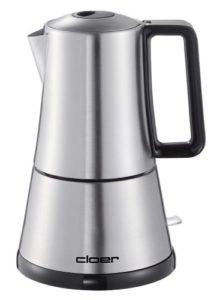 Espressokocher elektrisch - Cloer 5928 elektrischer Espressokocher, 365 W für 3-6 Espresso, Edelstahl