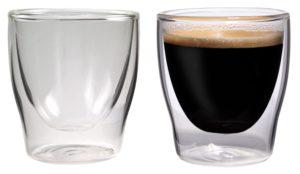 Espressogläser doppelwandig: Feelino Bloomino doppelwandige Espresso-Gläser