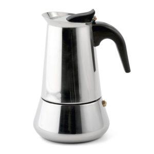 Weis 16974 Espressokocher Induktion Test, Edelstahl für 4 Tassen